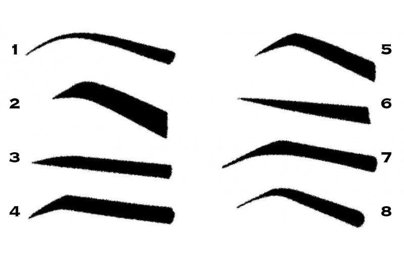 مدل ابرو برای صورت های مختلف